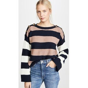 Calloway Boatneck Pullover Sweater in Stripe Mix